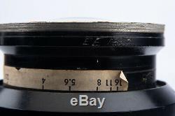 Kodak Aero Ektar 7 Inch 178mm f/2.5 Large Format Ariel Camera Barrel Lens SC10