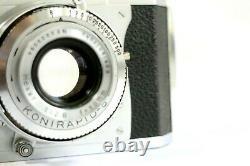 Konica II B 35mm Rangefinder Film Camera withHexar 50mm lens. From JAPAN