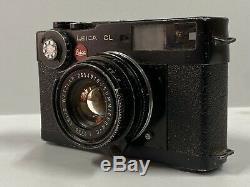 LEICA CL Film Camera Rangefinder WITH Summicron 40 F/2 Lens