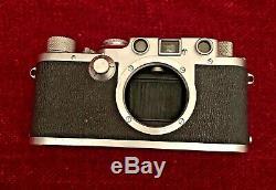 LEICA IIIc / IIIf Rangefinder Film Camera With Leitz Elmar 5cm (50mm) f/3.5 Lens