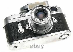 LEICA M3 CAMERA 35mm FILM ELMAR 2.8/50mm MC METER LENS CABLE CAP MANUAL BOOK f50