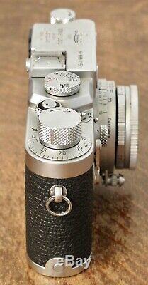 Leica IIIG 35mm Rangefinder Film Camera + 50mm f/2.8 Elmar Lens 3G 111G