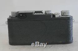 Leica III-C Grey K Rangefinder 35mm Film Camera with Summitar 50 F2 Lens, Cap