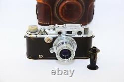 Leica III DRP Chrome Edition 1934 RANGEFINDER Film Camera withs lens industar-22