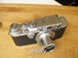 Leica III + Leica 50mm Elmar f/3.5 Lens 1939 Wartime Export Set
