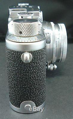 Leica IIIc Film Camera f=5cm 12 Lens + Case + Manual