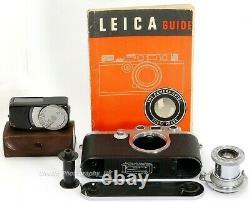 Leica IIIf / 3F Black Dial Camera + Industar-22 13.5 F=5cm Lens + LC 60 Meter
