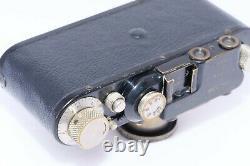 Leica II Black Paint 35mm rangefinder camera and 50mm f/3.5 Elmar lens. CLA'D