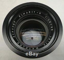 Leica Leitz Wetzlar Elmarit-R 90mm 12.8 Prime Portrait Camera Lens R-Mount EXC