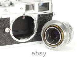 Leica M1 with Lens Leitz Elmar 3.5/5cm f/3.5 5cm mount Leica M No. 1040437