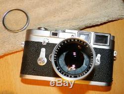 Leica M3 35mm Rangefinder Film Camera Summilux Leitz Weizlar Lens NOT TESTED