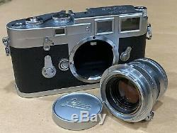 Leica M3 Rangefinder Camera with 50mm f/2 Summicron Collapsible Lens -Works Great
