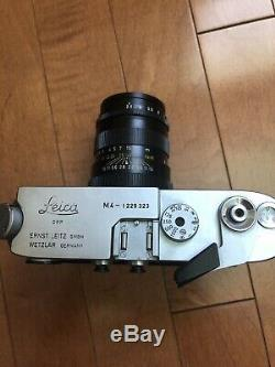 Leica M4 DBP Wetzlar Germany Film Camera with Leitz teleelmarit12.8/90 lens