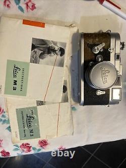 Leica M-3 with lens 5cm 12 MC meter 820 206 double stroke