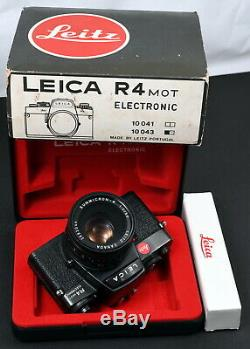 Leica R4 MOT Electronic 35mm Film SLR Camera c/w Summicron-R 50mm f/2 Lens Kit