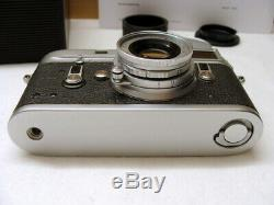 Leitz Wetzlar Leica M4 Kit Elmar- M 12.8/50mm Lens Service 2020 OVP