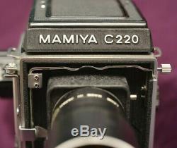 MAMIYA C220 PROFESSIOAL TLR FILM CAMERA + MAMIYA-SEKOR 18 CM f/4.5 LENS