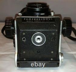 MAMIYA C220 Professional Vintage Camera TLR 80mm F2.8 Lens Partly Tested Japan