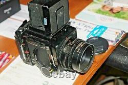 MAMIYA RB 67 120 / film back Bod no handle 1974 waist level/ hood no Lens