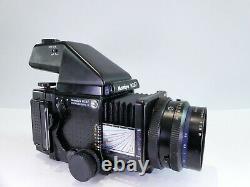 MAMIYA RZ67 PRO II 120 FILM 6x7 MEDIUM FORMAT CAMERA WITH AE FINDER AND LENS