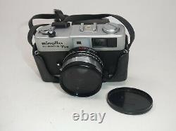 MINOLTA HI-MATIC 7SII 35MM FILM CAMERA WithROKKOR 40MM f11.7 LENS CASE & 2 FILTER