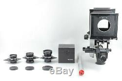 MINT 3Lens Sinar P 4x5 Large Format Film Camera with150mm 210mm 250mm Japan C041