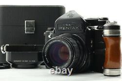 MINT in Case PENTAX 67 6X7 LATE MODEL / 105mm f2.4 LENS / GRIP From Japan #187