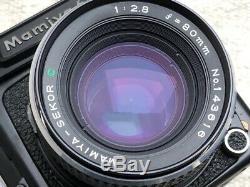 Mamiya 645 1000s Medium Format Camera With 80mm Lens WLF & 120 Film Insert