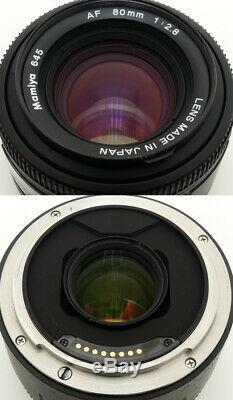 Mamiya 645 AFD Medium Format Film Camera + 645 AF 80mm F2.8 Lens. Filter. Hood