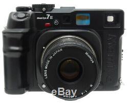 Mamiya 7 II Medium Format Rangefinder Film Camera + N 80mm F4 L Lens. Filter