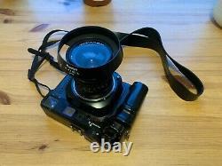 Mamiya 7 II rangefinder film camera, N 65mm F4 L lens, strap, hood. London UK