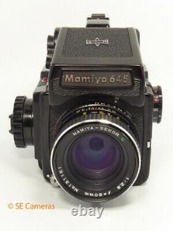 Mamiya M645 J Camera & Mamiya Sekor C 80mm F2.8 Lens Near Mint