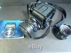 Mamiya RB67 Pro S Medium Format Film Camera with 90 MM & 127mm Lens & instructions