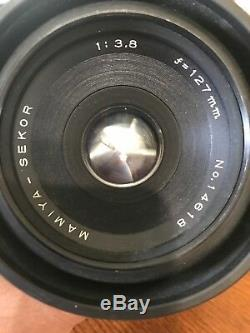 Mamiya RB67 With Two Lenses, WLF And Prism Finder