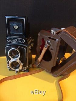 Minolta Autocord TLR Film Camera With Rokkor Seikosha-MX 75mm f3.5 Lens, Case