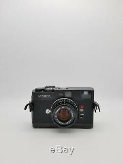 Minolta CLE 35mm Black Rangefinder Film Camera with M-Rokkor 40mm f2 Lens & Extras
