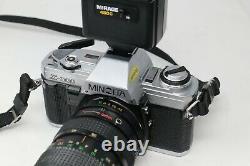 Minolta X300 X-300 SLR Film Camera with Hanimex 28-80mm zoom lens