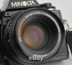Minolta X-700 35mm Camera with MD 50mm 1.7 Lens Perfect for Photography Students