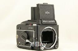 NEAR MINT MAMIYA M645 1000S Waist Level Finder 80mm f/2.8 Lens from JAPAN