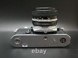 NEAR MINT Nikon FM 35mm SLR Film camera body with Ai 50mm f1.4 Lens from JAPAN