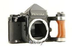 NEAR MINT PENTAX 67 TTL Late Model 6x7 + SMC T 105mm Lens + Grip from JAPAN