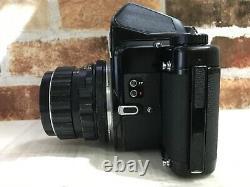 N MINT Pentax 6x7 67 Film Camera + Super Takumar 105mm f/2.4 Lens From JAPAN