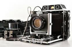 N MINT+Topcon Horseman 985 + 65,90,180mm Lens 8EXP120 6x9 Film Back From Japan