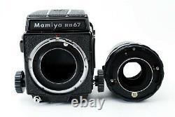 N-Mint Mamiya RB67 Pro + Sekor 180mm F/4.5 Lens, 120 Filmback from Japan