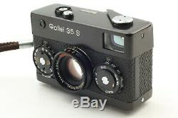 N-Mint Rollei 35 S Black 35mm Film Camera + Sonnar 40mm F/2.8 Lens from Japan