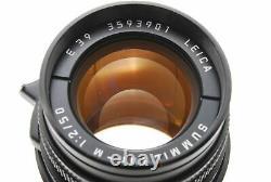 Near MINT/ Leica summicron M 50mm F2 Black Lens Film Camera from Japan #0594