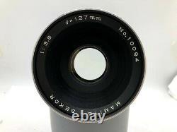 Near MINT MAMIYA RB67 Pro + SEKOR 127mm F3.8 Lens + Hood +120 Film Back Japan