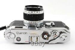 Near Mint CANON Rangefinder Film Camera + 50mm F1.8 lens from Japan 45Y2F7-13