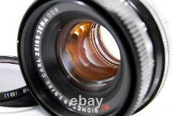 Near Mint Carl Zeiss Jena Ddr MC Biometar 80mm F2.8 Lens Pentagon Exakta Fedex