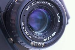 New Zenit 122K SLR 35mm film camera in box KMZ KIT Zenitar lens Pentax K Mount